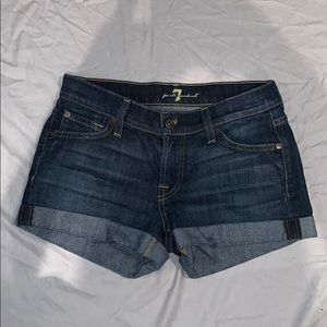 7 for all mankind jean shorts!!